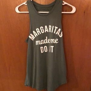 Margaritas made me do it tank